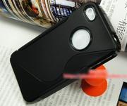 s line tpu Стильный черный силиконовый чехол дл iPhone 4 4S
