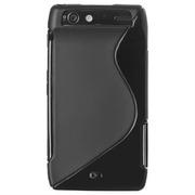S-line TPU Черный силиконовый чехол Motorola Droid RAZR XT910 XT912