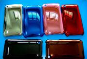 Стильный яркий пластмассовый перламутровый чехол хром  iPhone 3G 3Gs