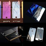 Защитные противоударные цветные зеркальные каленые стекла на Iphone