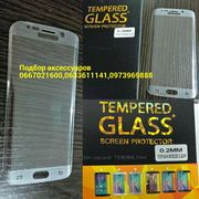 Полная 3D изогнутое закаленное стекло Samsung S7edge,  S6 edge  Противо