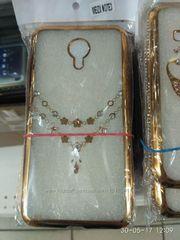 Чехол со стразами Meizu M3 Note ,  защитное стекло