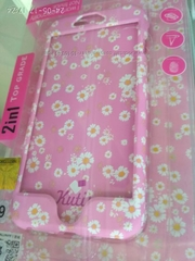 Противоударный чехол Kutis 2 in 1 для iPhone 6/6s Розовый с цветами